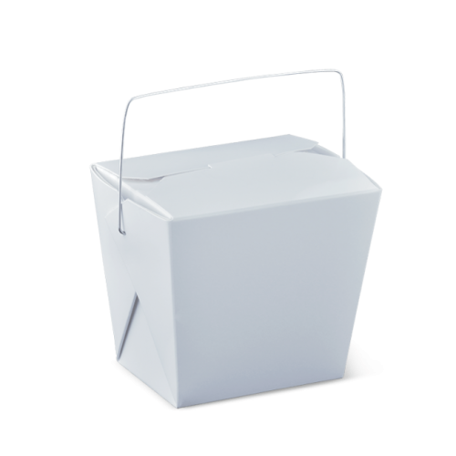 16oz (76x56x85h) Noodle Box with Wire Handle