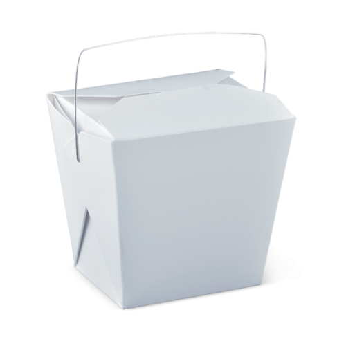 32oz (89x69x110h) Noodle Box with Wire Handle