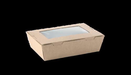 400ml (120x88x37) Brown Kraft Window Lunch Box