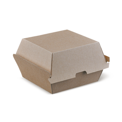 Burger (105x105x85) Brown Kraft Clamshell