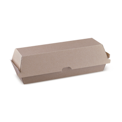 Hot Dog (208x70x75) Brown Kraft Clamshell