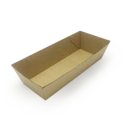 Hot Dog (210x70x38) Brown Kraft Open Tray