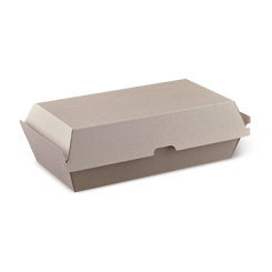 Large Snack (205x107x77) Brown Kraft Clamshell