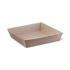 #2 (178x178x45) Brown Kraft Open Tray