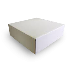 10x10x4 Inch (254x254x102) Easy Fold Corrugated Cake Box