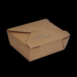 Medium (152x120x64) PLA Lined Brown Lunch Box