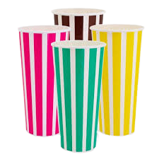 24oz / 800ml (90Dx175) Candy Stripe Cold Paper Cup