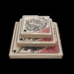 15inch (375x375mm) Brown Kraft Pizza Print Pizza Box