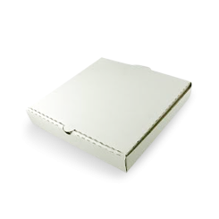 15inch (375x375mm) Plain White Pizza Box