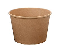 8oz (98Dx60h) Brown Kraft Food Bowl