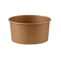 1300ml (185Dx68h) Brown Kraft Round Salad Bowl