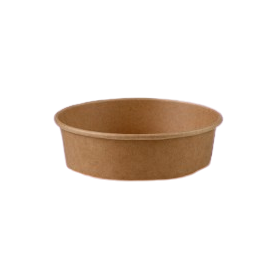 500ml (150Dx48h) Brown Kraft Round Salad Bowl
