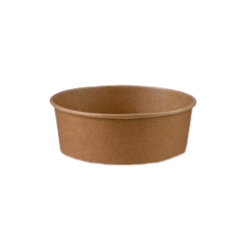 750ml (150Dx58h) Brown Kraft Round Salad Bowl