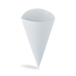 Large (120Dx240h front/290 back) Paper Food Cone
