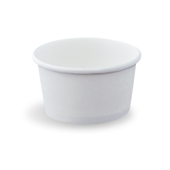 8oz/237ml (100Dx55) White Round Paper Food Container