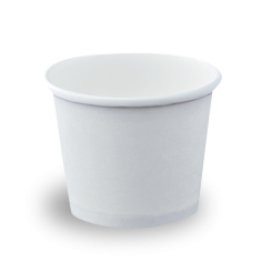 12oz/355ml (100Dx80) White Round Paper Food Container