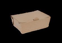 600ml (125x95x49) Brown Kraft Take Away Box