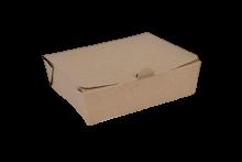 1000ml (157x125x49) Brown Kraft Take Away Box
