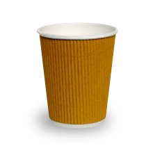 12oz Brown Corrugated Wall Coffee Cup