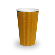 16oz Brown Corrugated Wall Coffee Cup