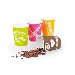 12oz Callisto 4 Colour Corrugated Wall Coffee Cup