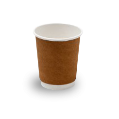 8oz Brown Kraft Double Wall Coffee Cup