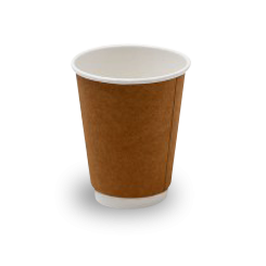 12oz Brown Kraft Double Wall Coffee Cup