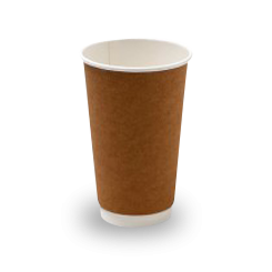 16oz Brown Kraft Double Wall Coffee Cup