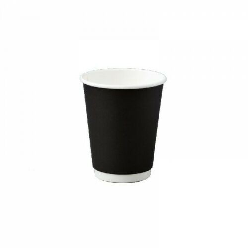 8oz Black Double Wall Coffee Cup