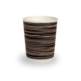 8oz Black with Swirl Double Wall Coffee Cup