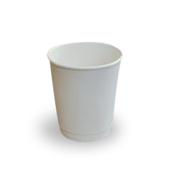 8oz White Double Wall Coffee Cup
