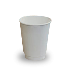 12oz White Double Wall Coffee Cup