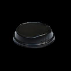 6oz / 8oz Black Biodegradable Hot Lid