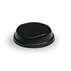 6oz / 8oz Black Biodegradable Takeaway Coffee Lid