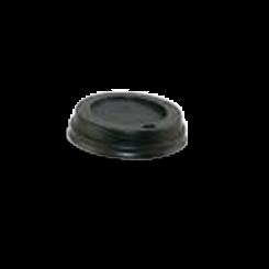 4oz Black Flat Plastic Hot Lid