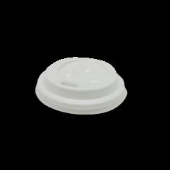 4oz White Flat Plastic Hot Lid