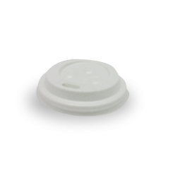 4oz White Flat Plastic Takeaway Coffee Lid