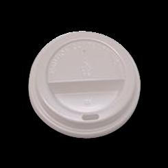 6oz / 8oz White Flat Plastic Hot Lid