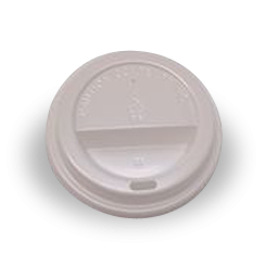 6oz / 8oz White Flat Plastic Takeaway Coffee Lid