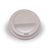 8oz / 12oz / 16oz White Flat Plastic Takeaway Coffee Lid