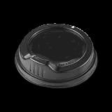 6oz / 8oz Black Sipper Plastic Hot Lid