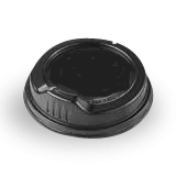 8oz Black Sipper Plastic Hot Lid