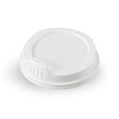 12oz / 16oz White Sipper Plastic Hot Lid