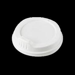 12oz / 16oz White Sipper Plastic Hot Lid