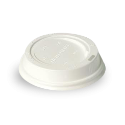 8oz White Plastic Hot Lid