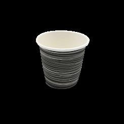 4oz Black with Swirl Single Wall Coffee Cup