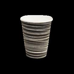 8oz Black with Swirl Single Wall Coffee Cup