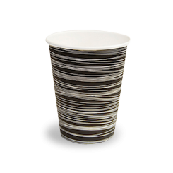 12oz Black with Swirl Single Wall Coffee Cup