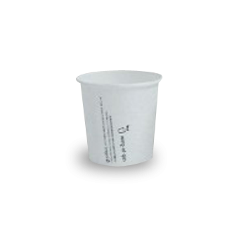 4oz PLA Lined White Single Wall Coffee Cup