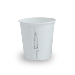 6oz PLA Lined White Single Wall Coffee Cup